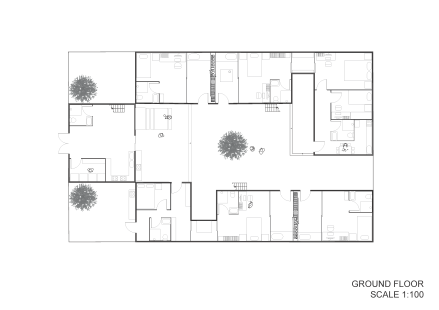 Public Villa Ground Floor Plan
