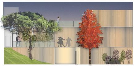 [Design Studio] Apartment Elevation - Night View